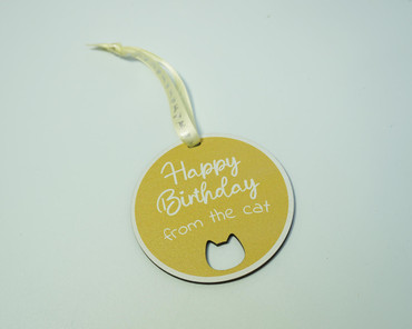 SHG at Home Happy Birthday From The Cat Tag