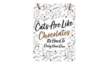 Morning Cuppa Cats Are Like Chocolate A5 Metal Plaque