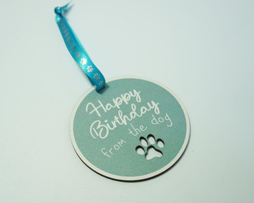 SHG at Home Happy Birthday From The Dog Tag