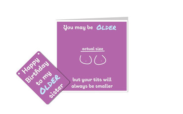 Morning Cuppa Happy Birthday Older Sister Plaque and Card Fusion
