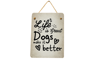 Morning Cuppa Life Is Great Dogs Make It Better A5 Plaque