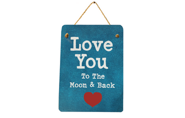 Morning Cuppa Love You To The Moon and Back Midi Metal Plaque