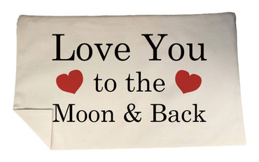 Morning Cuppa Love You To The Moon And Back Rectangle Cushion Cover Flock Accent