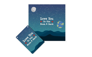 Morning Cuppa Love You To The Moon Plaque and Card Fusion