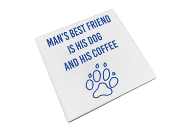 Morning Cuppa Mans Best Friend Coaster