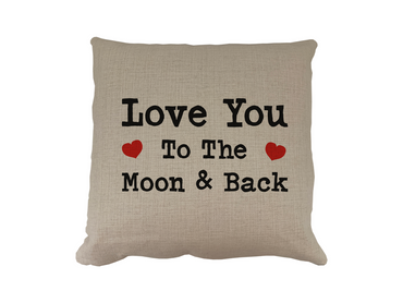Morning Cuppa Square Love You To The Moon Cushion