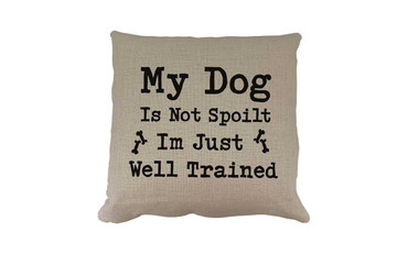 Morning Cuppa My Dog Is Not Spoilt Cushion