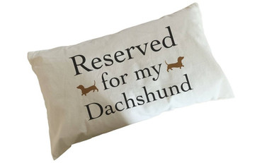 Morning Cuppa Reserved For My Dachshund Flock Accent Rectangle Cushion