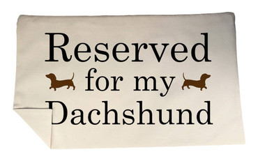 Morning Cuppa Reserved For My Dachshund Rectangle Cushion Cover With Flock Accent
