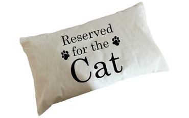 Morning Cuppa Reserved For The Cat Flock Accent Rectangle Cushion With Feather Filler