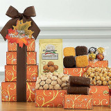 Thanksgiving Treats : Gourmet Gift Tower