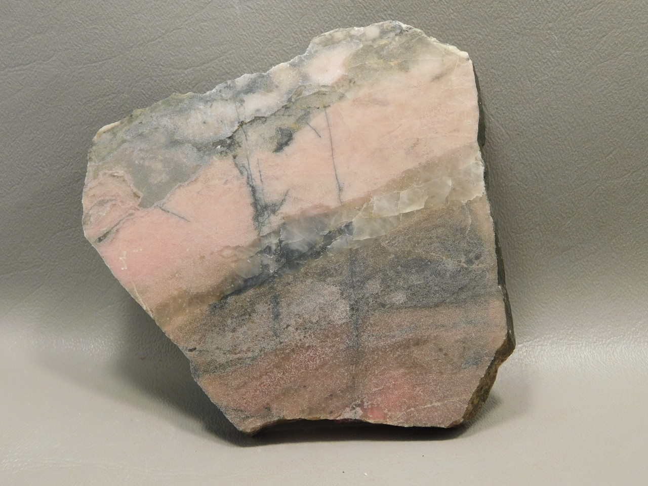 Rhodonite Thick Stone Slab Lapidary Rough Rock Australia #O2