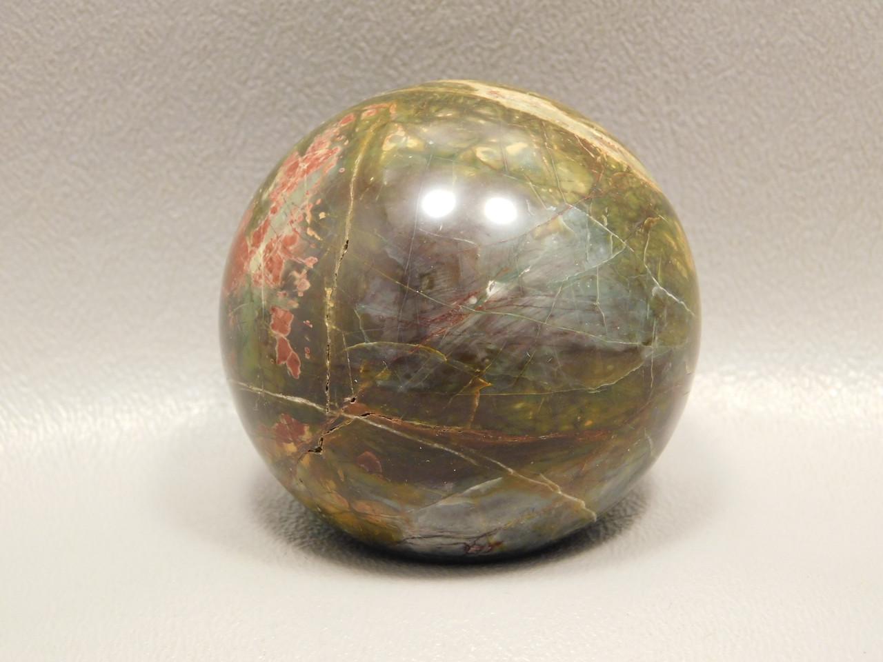 Cherry Creek Jasper Stone Sphere 2 inch Red Creek Jasper 50 mm Ball #O1