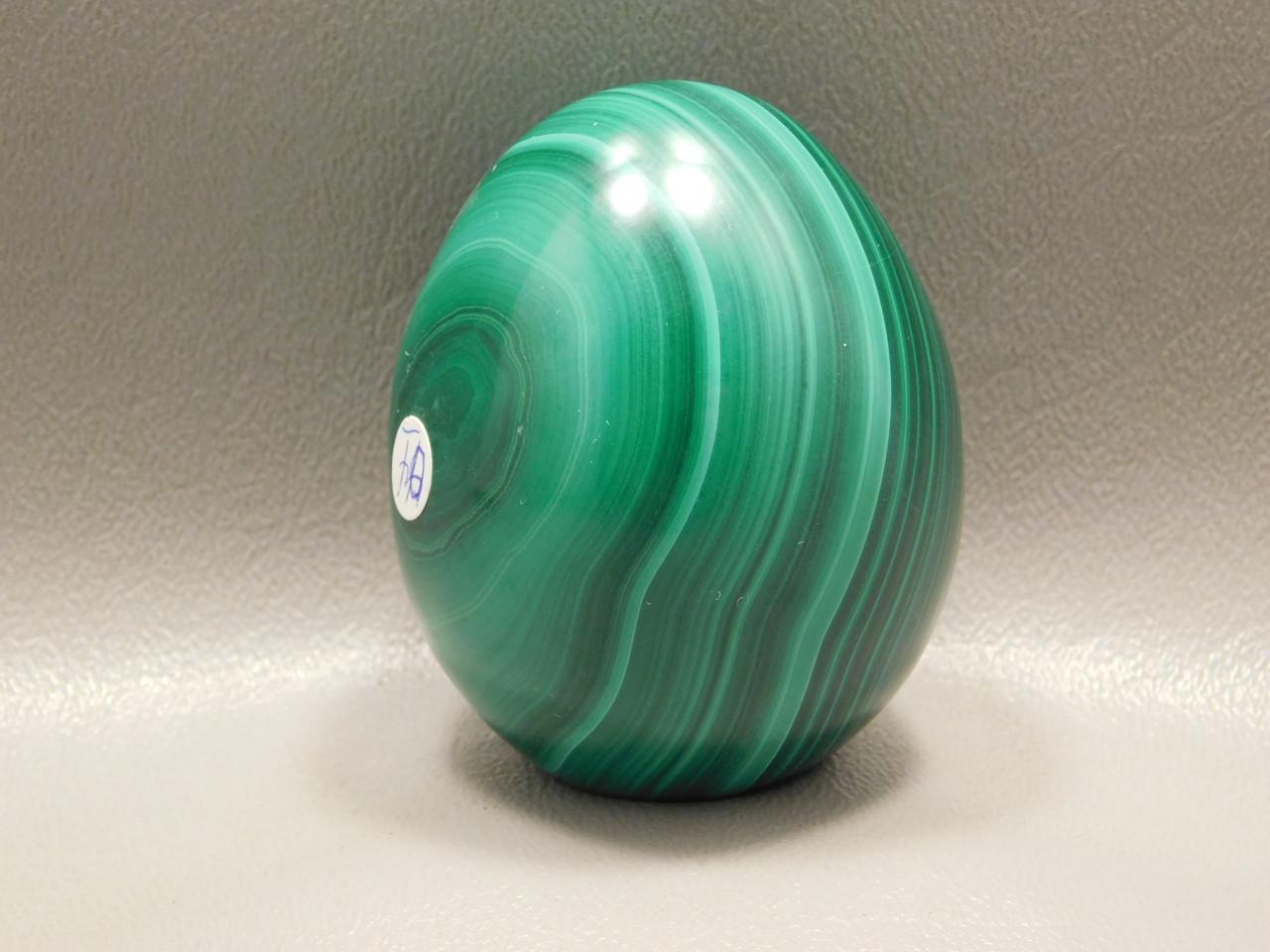 Stone Egg Malachite 2.25 inch Gemstone African Green Rock #O4