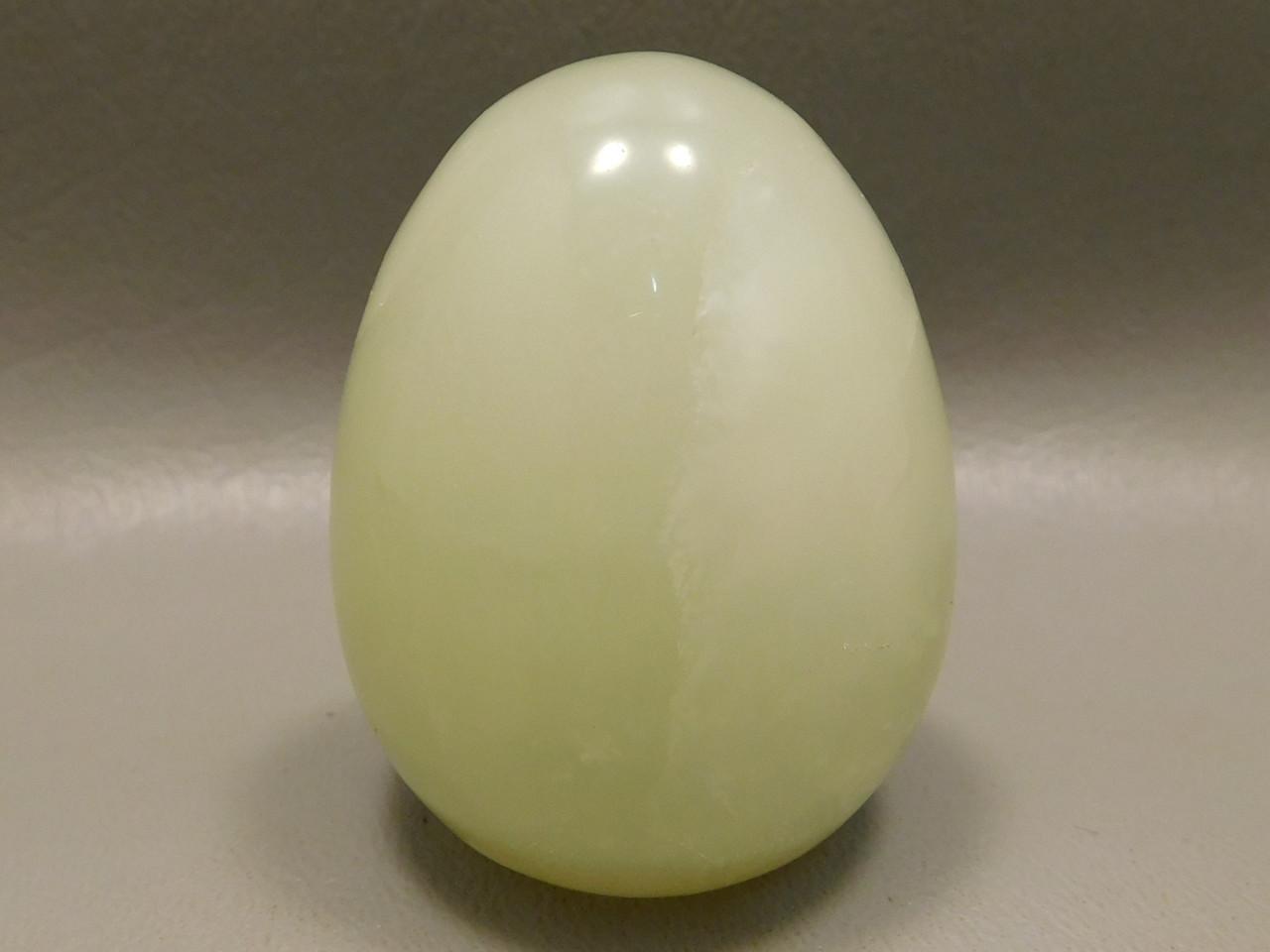 Serpentine Stone Egg 2 inch Yellow Green Gemstone Rock New Jade #O2