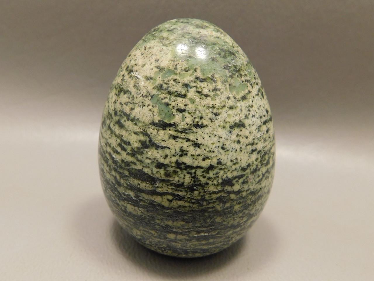 Serpentine Stone Egg 2 inch Green Gemstone South Africa Rock #O1