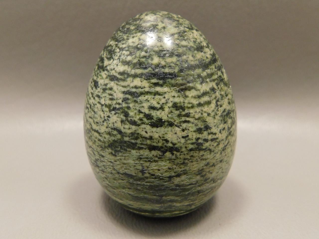 Serpentine Stone Egg 2 inch Green Gemstone South Africa Rock #O2