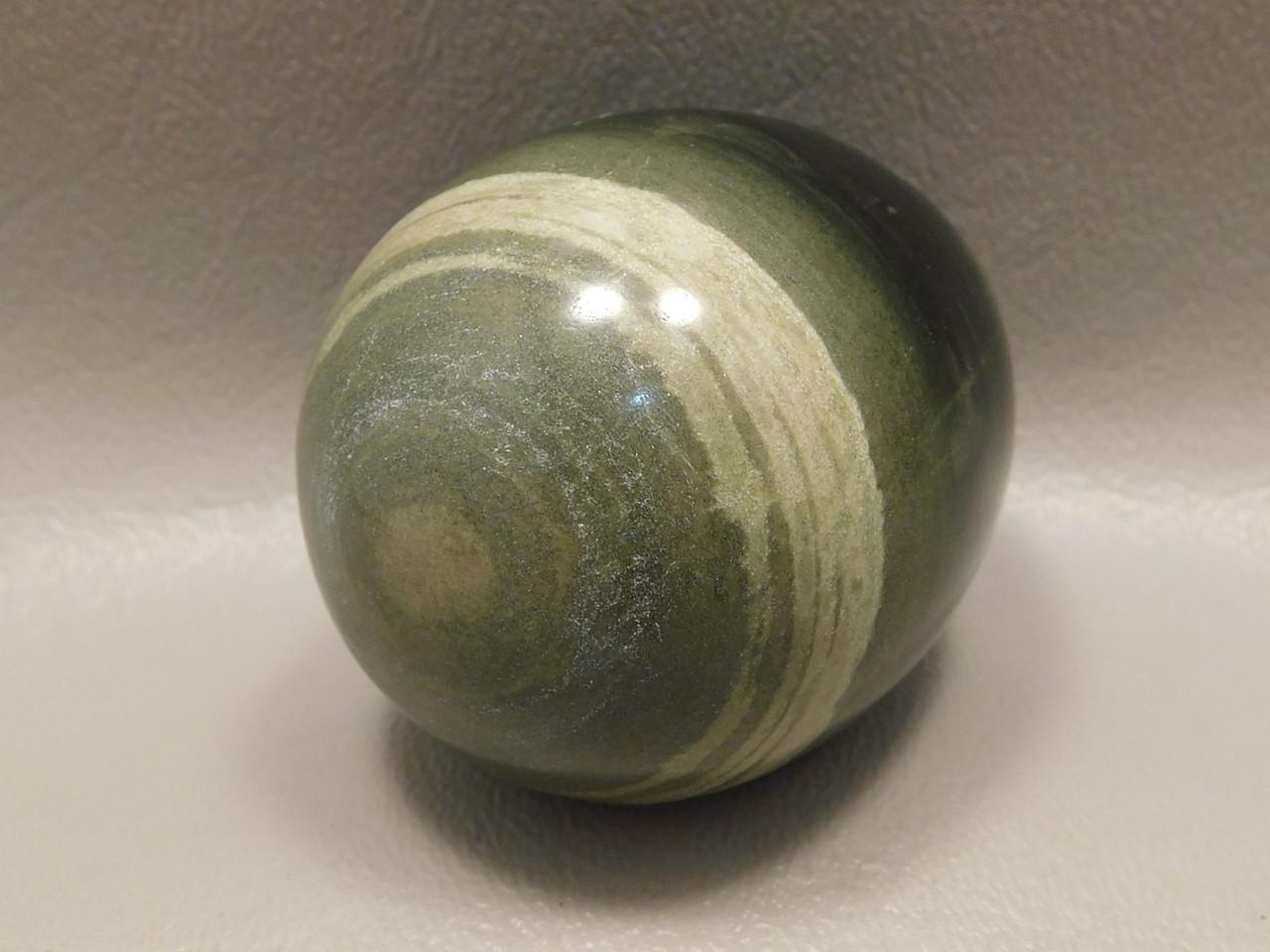 Silver Leaf Jasper Egg Green Gemstone 2.25 inch Rocks Minerals #O3