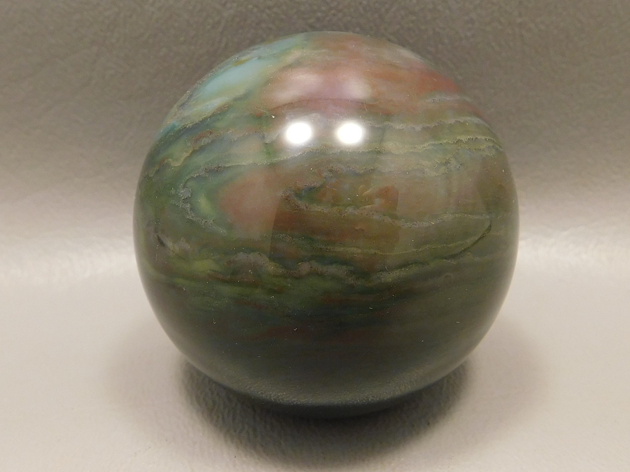 Fancy Jasper Sphere Carving 2 inch Stone 50 mm Ball India Rock #OF1