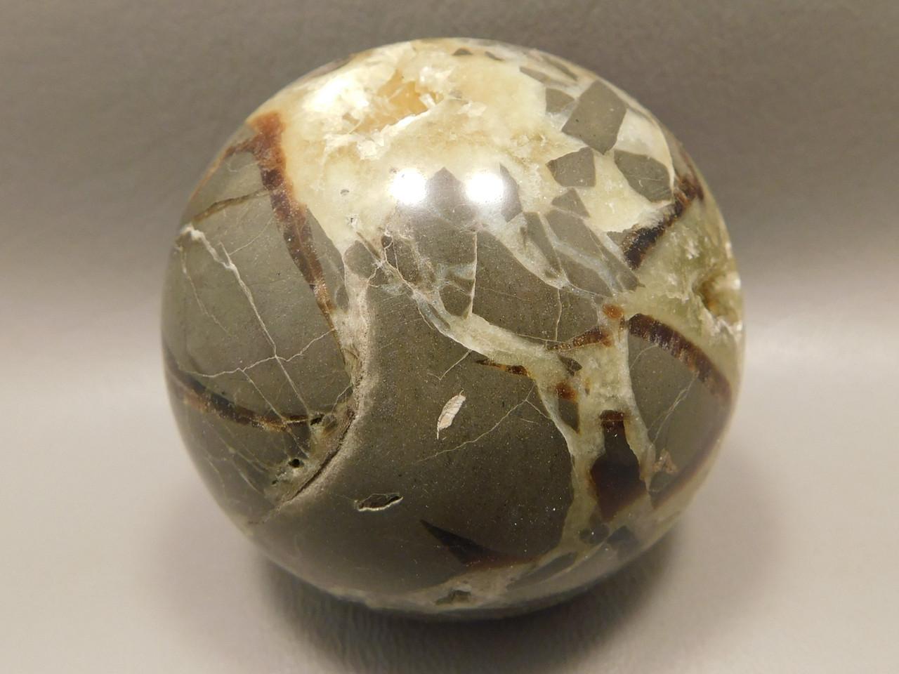 Septarian Nodule Stone 3 inch Sphere Ball Rock 78 mm Ball Utah #O6
