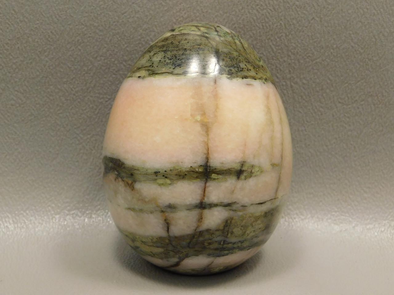 Harquahala Marble Stone Egg Shaped 2.35 inch Pink Rock Arizona #O1
