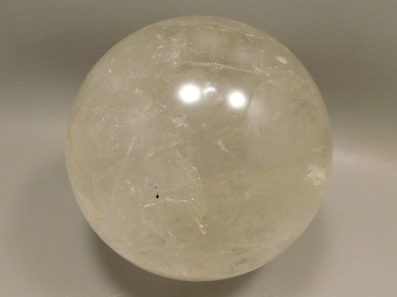Natural Quartz Crystal Ball Large 4.2 inch Polished Stone Sphere #O1