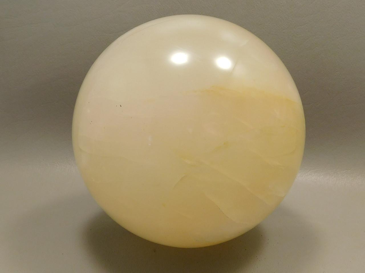 Golden Quartz Crystal Ball Large 4 inch Polished Stone Sphere #O10