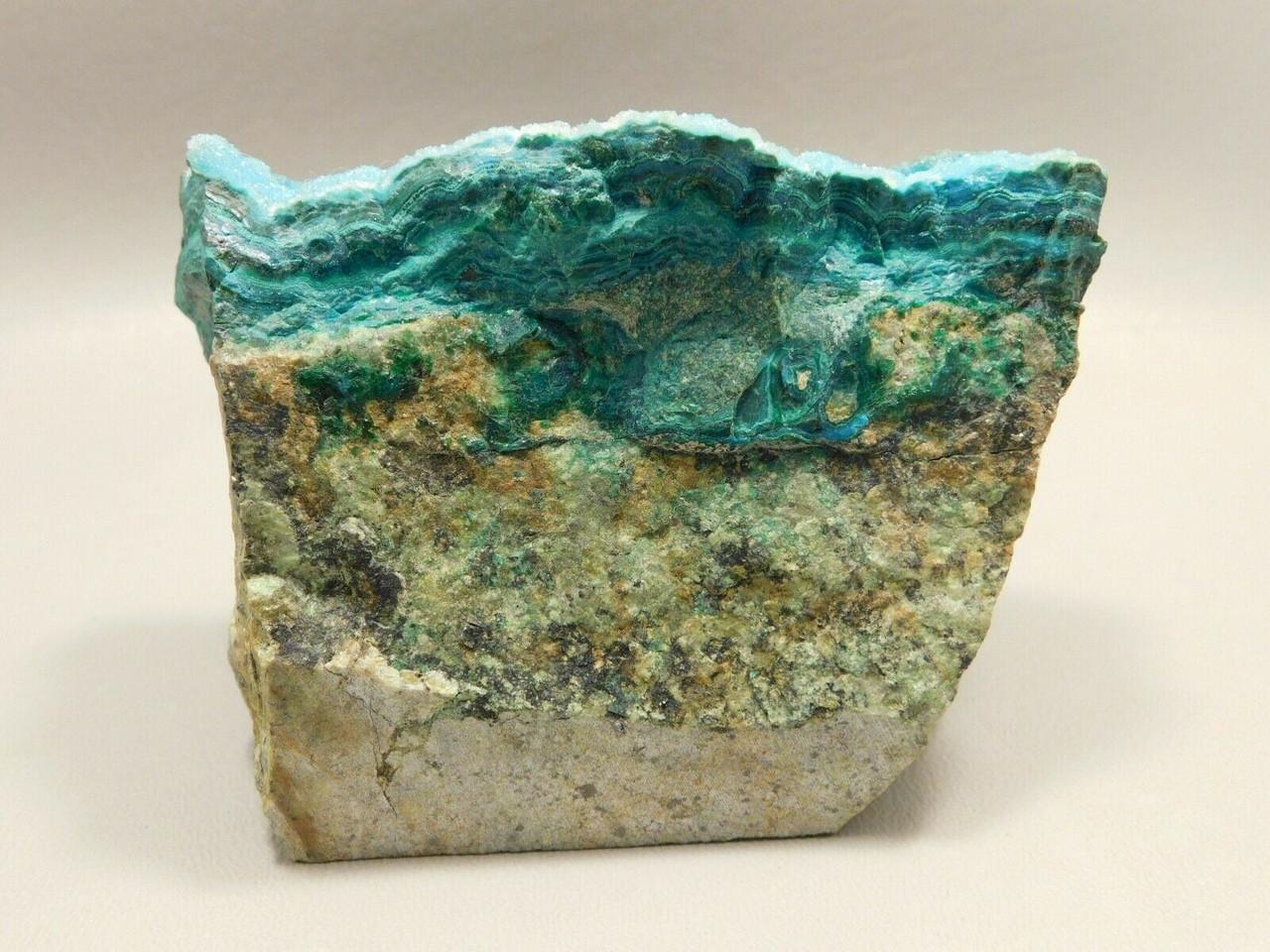 Drusy Chrysocolla Natural Mineral Specimen Blue Druse Arizona #O9