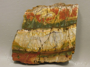 Unpolished Rock Cherry Creek Jasper Stone Slab Red Creek #O4