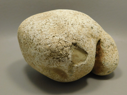 White Calcedony Nodule Lapidary Stone Rough Rock #O1