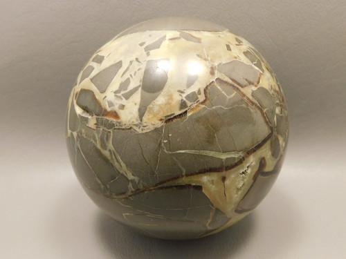Stone Sphere Septarian Nodule 3.25 inch Mineral Ball Rock Utah #O2