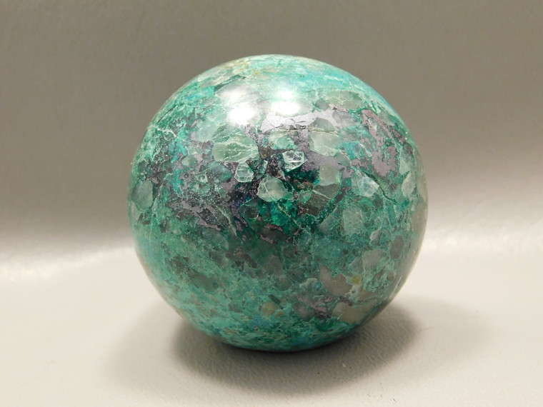 Chrysocolla Malachite Stone Sphere Carving 2 inch 50 mm Ball #O5