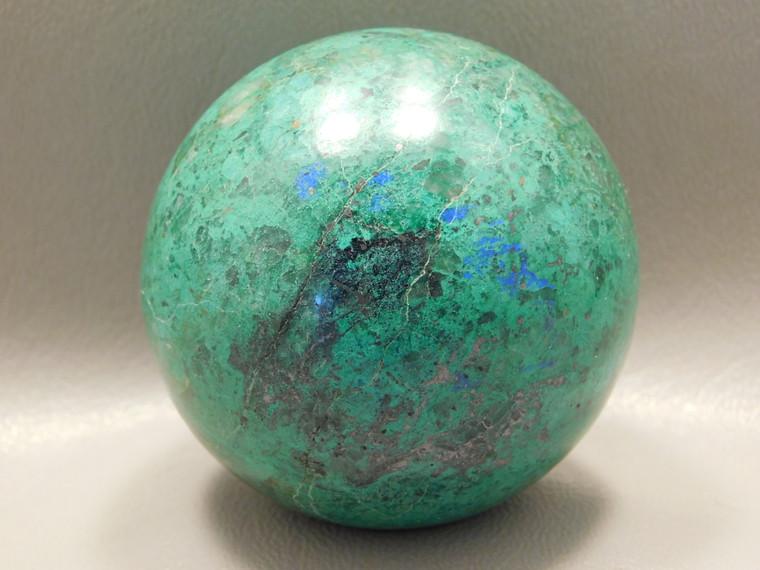 Chrysocolla Malachite Stone Sphere 2.25 inch Carving 57 mm Ball #O20