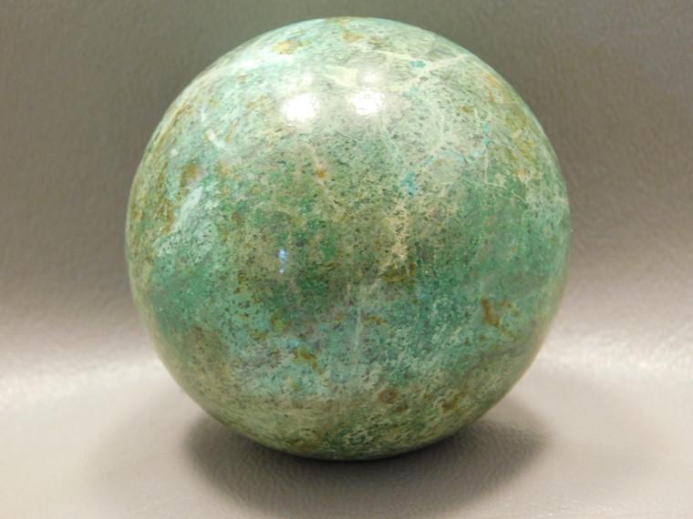 Chrysocolla Malachite Stone Sphere 2.25 inch Carving 56 mm Ball #O21