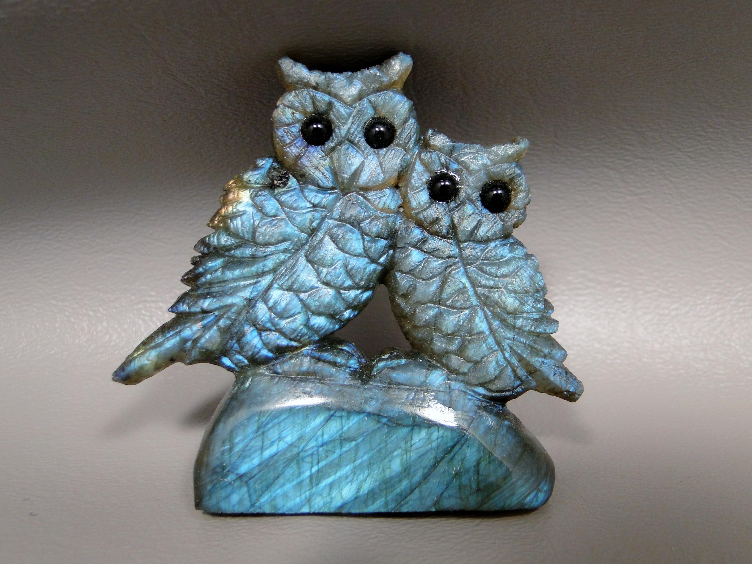 Labradorite Owls