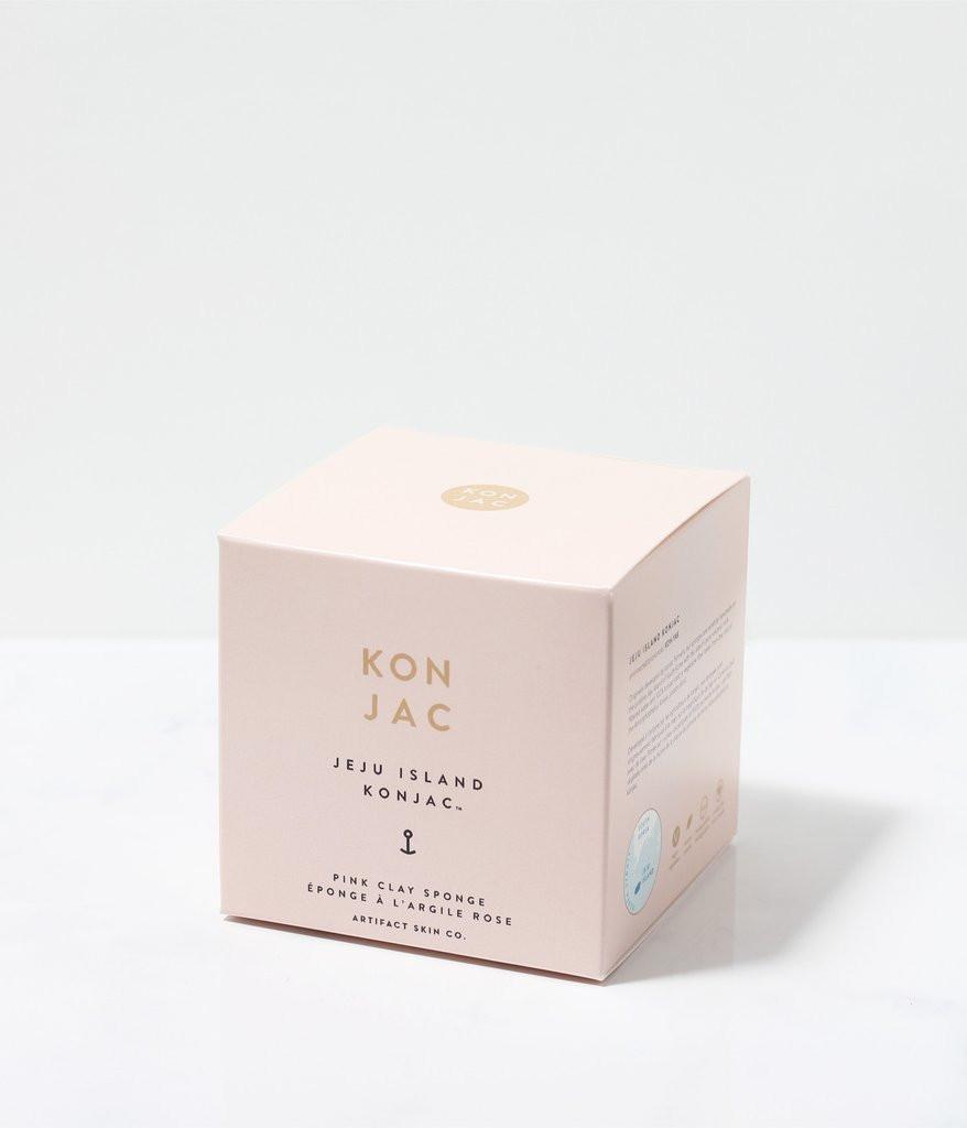 Jeju Island Pink Clay Konjac Facial Sponge