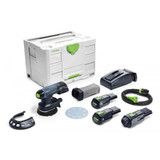 "Festool FES-575716 ETSC 125 18V Brushless Hybrid Cordless 5"" Sander Bluetooth 3.1Ah SET"