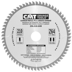 210mm by 64 Tooth 30mm Bore Non-Ferrous Metal Saw Blade