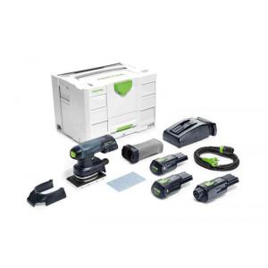 Festool FES-575728 RTSC 400 18V Brushless Hybrid Cordless Sander Bluetooth 3.1Ah SET