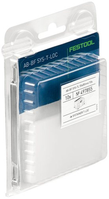 Festool FES-497855 Clear Labels For T-LOC Systainers - 10 Pack