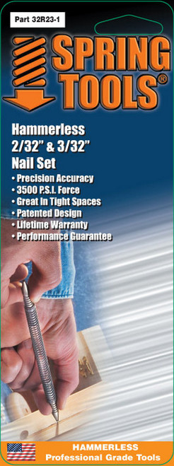 """Spring Tools SPR-32R231 Double Ended Nail Set 1/16"""" & 3/32"""""""