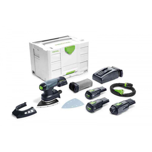 Festool FES-575707 DTSC 400 18V Brushless Hybrid Cordless Sander Bluetooth 3.1Ah SET