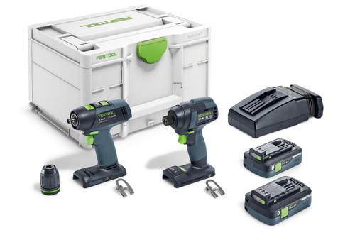 Festool FES-576494 TID18 Impact Driver + T18 Drill - Combo Kit
