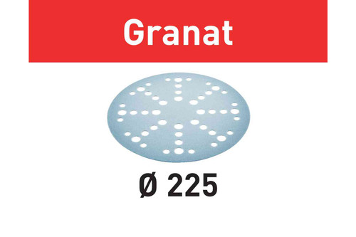 Festool FES-D225-GRANAT Abrasive Sheet Granat STF D225/48 GR/25