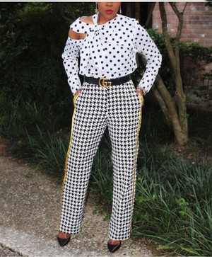Four Pocket Slacks with Hounds Tooth Print and Canvas Seam Print in Black, White and Yellow Gold.  (Sizes) Small 5/6, Medium 7/9, Large 11/12, XLarge 13/14, 1XL 14/16, 2XL 18/20)