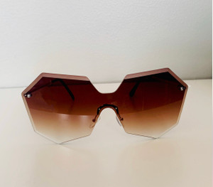 Inspired Octagon Frames in Bronze or Black with Gold Hardware