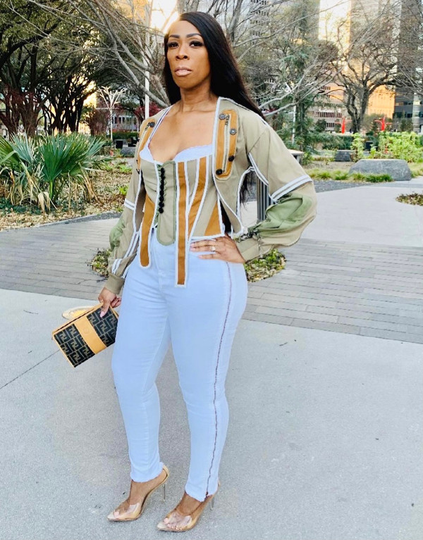 Premium Stretch White Denim Pants with Antique Gold Side Zippers from Hip to Ankle   (View Size Guide in Information Tab)