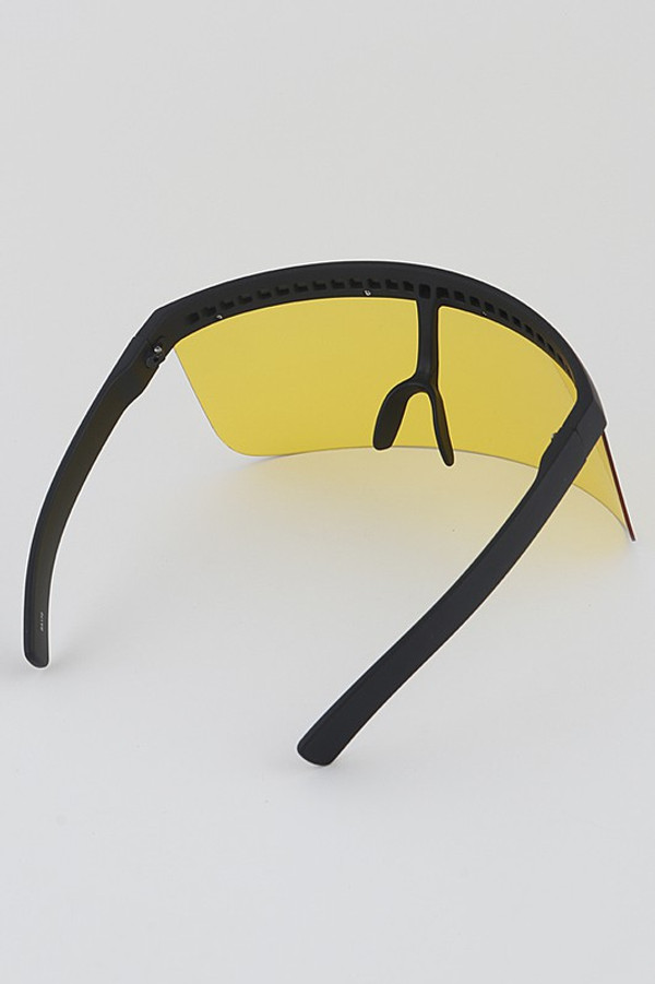 Protective Goggle Style Face Glasses in Pink, Yellow, Blue and Red.