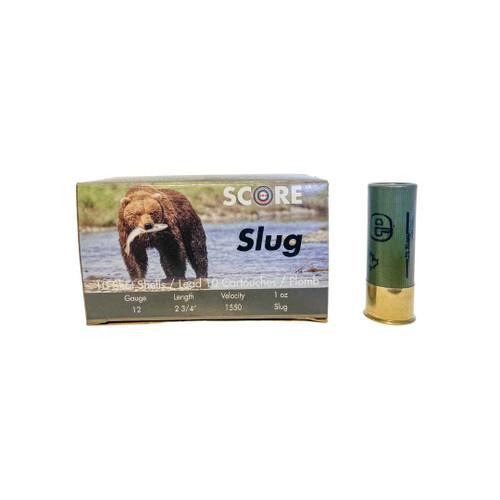 Score 12 GA Slug 10 Rounders Ammunition