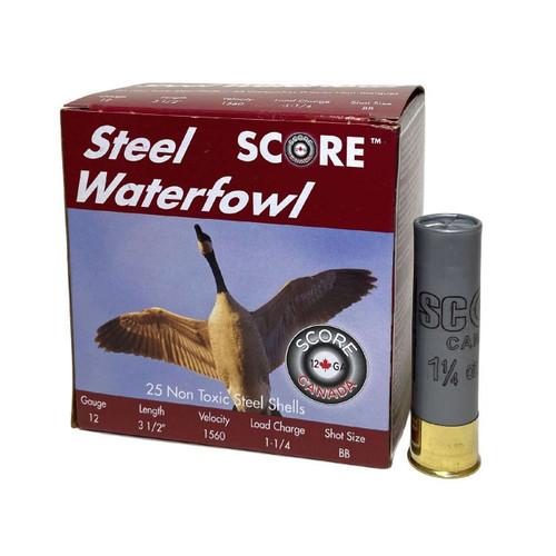 Score 12 GA Waterfowl Loads (BB, #2, #3, #4) Ammunition